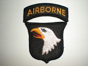 Accessoires, losse onderdelen 101st AIRBORNE PATCH WITH AIRBORNE TAB FULL COLOR:K6