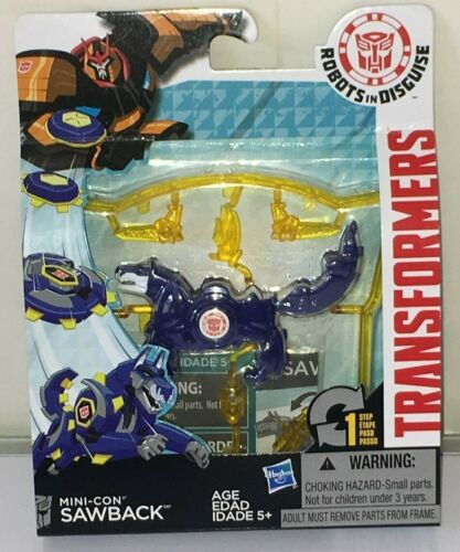 Transformers-Robots In Disguise Mini-détenu Sawback Action Figure Comme neuf NEUF