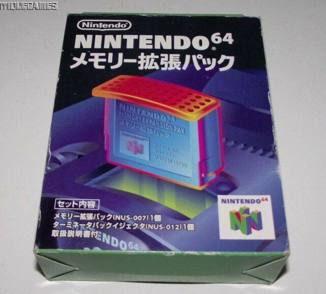 Genuine Nintendo 64 N64 Boxed Expansion Pak and Genuine Puller Japanese