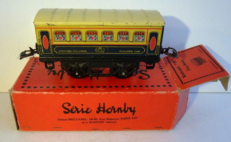 Train Hornby, voiture bar  et restaurant  Pullman  M , avant guerre, avec boîte
