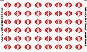 G.I OPAQUE 1//18 Scale Custom Waterslide Decals Joe Cobra Logos WHITE