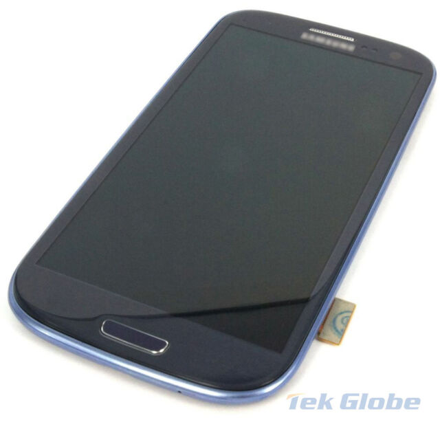 Blue LCD Display Touch Screen Digitizer + Frame for Samsung Galaxy S3 i9300