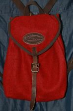 Frost River Duluth Small Napsack Backpack Red Wool Leather Canvas USA Made NWT