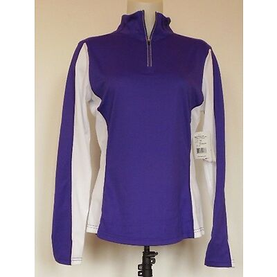 NEW NWT Obermeyer Sage 75 Wt Purple Reign & White Baselayer 1/4 Zip Top Shirt M
