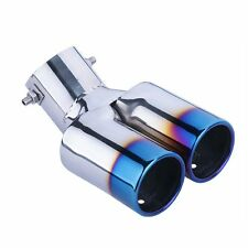 60mm Universal Stainless Steel Car Rear Dual Exhaust Pipe Tail Tip Muffler