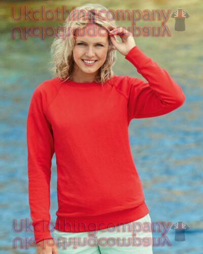 Fruit Of The Loom Lady-Fit Lightweight Raglan Sweat women/'s ladies jumper
