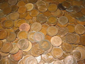 100-FARTHINGS-BULK-LOT-OF-OLD-ENGLISH-COINS-1900-1956