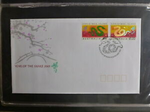 2003-AUSTRALIA-YEAR-OF-THE-SNAKE-SET-OF-2-STAMPS-FDC-FIRST-DAY-COVER