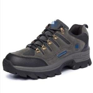 Men Lace Up Hiking Outdoor Trail Trekking Sneakers Mountain Climbing Shoes Retro