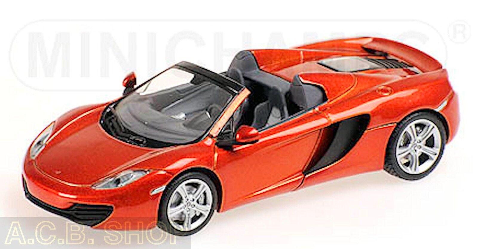 McLaren mp4-12c Spider 2012 Orange Metallic 1 43 Minichamps