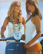"VESPA Poster ""Rally blau / 2 Bikini-Mädels"" - 65x48cm - GL Sprint 200 180 Retro"