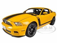 2013 FORD MUSTANG BOSS 302 YELLOW 1/18 MODEL CAR BY SHELBY COLLECTIBLES SC451