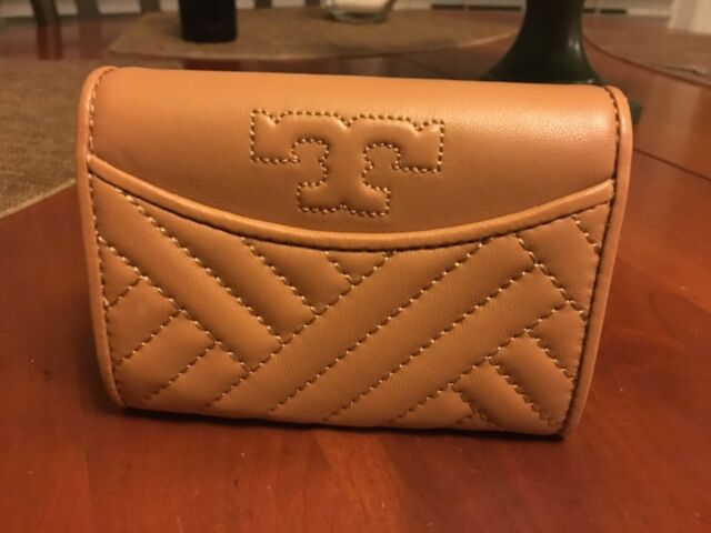b5bd025cb Tory Burch Alexa Light Gray Foldable Quilted Mini Wallet for sale ...