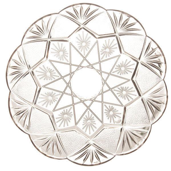 Mashers Stella 27cm Round Disposable Plastic Dessert Cake Plates - Pack of 120