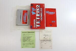 Super TETRIS 2 + Bombliss Boxed SFC Nintendo Super Famicom SNES Japan Import