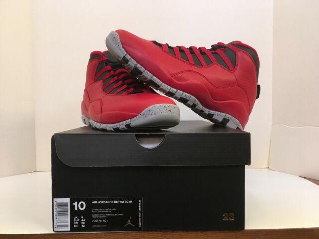 sale retailer 59b17 4a523 Nike Air Jordan Retro 10 X Bulls Over Broadway Gym Red 705178-601 S 9