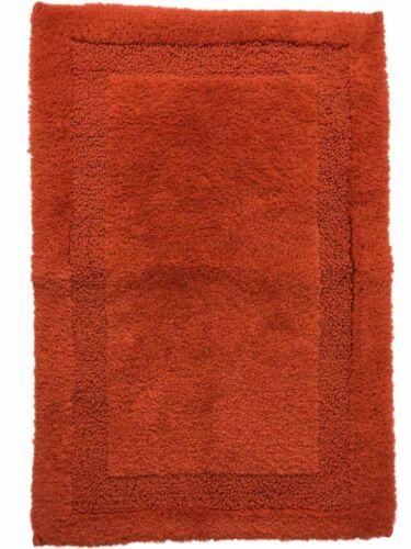 Chaps Richmond Orange Plush Pile Throw Rug 17x25 Skid Resistant Bath Mat