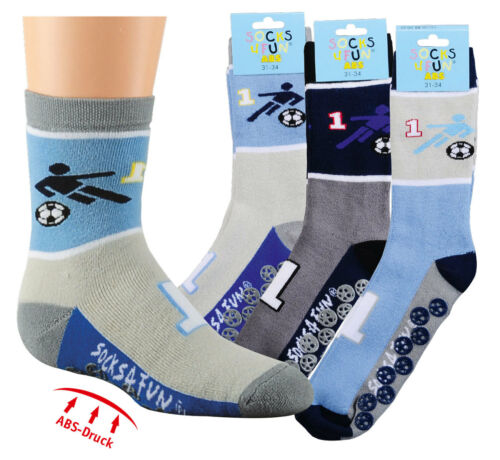 Homesocks ABS Anti-Slip Socks with cotton for children in Pack Of 3 Football