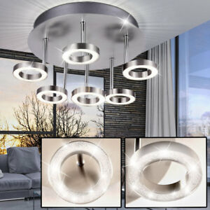 Plafonnier-LED-Salon-Salle-a-manger-Eclairage-gradable-anneaux-lampe-chrome-WOFI