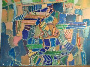 Art-Contemporain-Cubisme-DGL-STAEL-ZELTER-Fauve-Grande-Acrylique-Carton-Signee-2