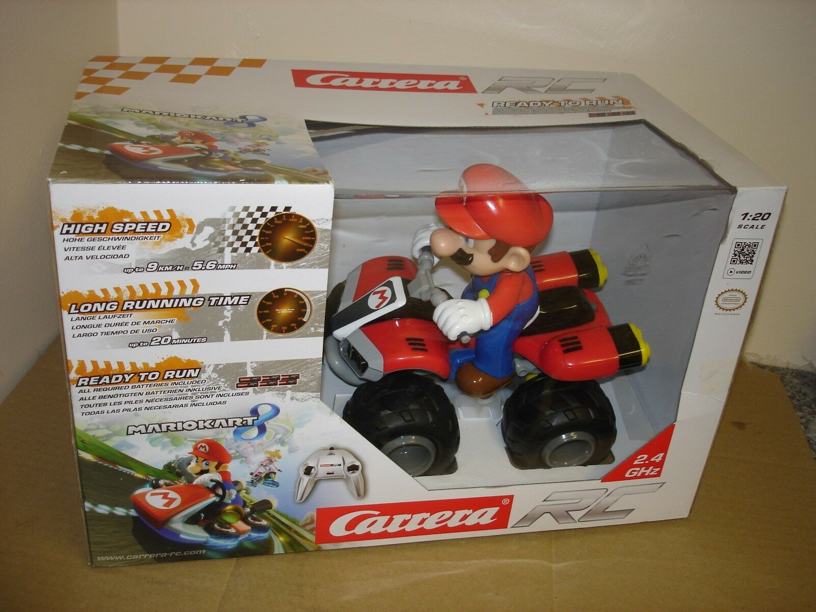 Carrera Mario Kart 8 1 20 scale Remote controlled Mario and Kart ready to go