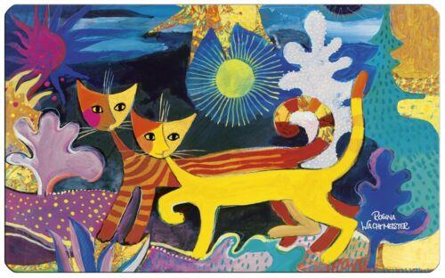 Frühstückbrettchen Wonderland Schneidebrett Rosina Wachtmeister Katzen