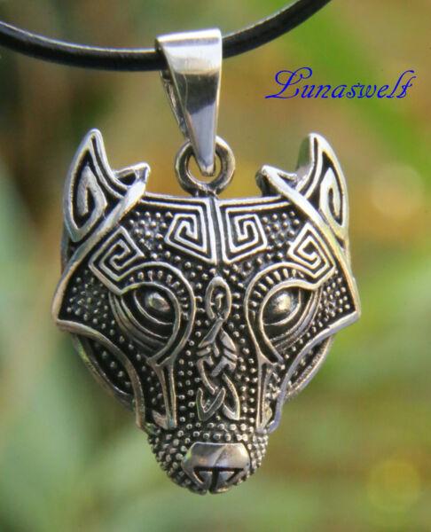 Amulett Fenriswolf Schmuckanhänger Aus 925er Sterling Silber Inkl. Band Auf Dem Internationalen Markt Hohes Ansehen GenießEn