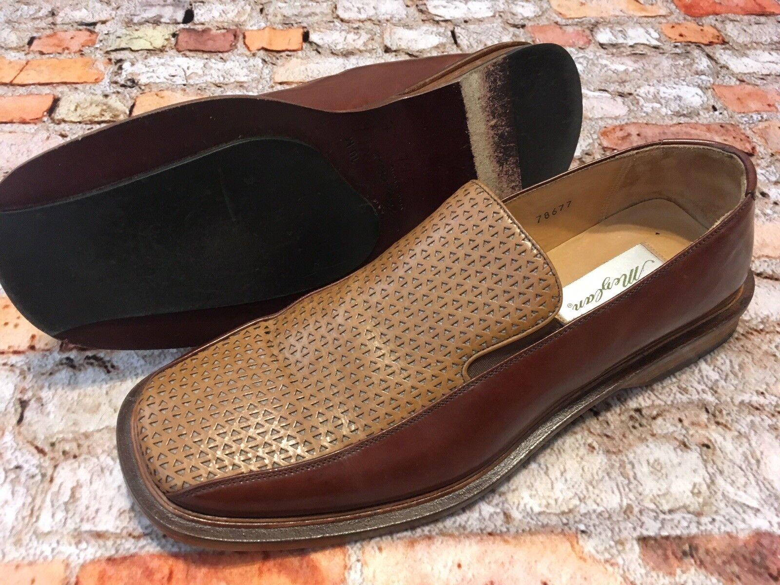 MEZLAN Brown Tan Leather Loafer SHOES SPAIN VERO CUOIO Men's Size 10M