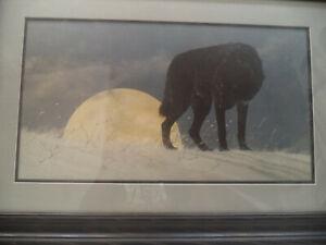 Jon Van Zyle Alaska Ethos 1988 Signed By Artist Open Edition Black Wolf Print