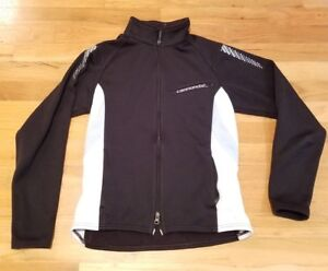 Cannondale cycling jacket full zip womens size medium  Black 3 back ... 2657c3a8d