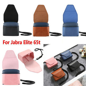 Leather Case Cover Bag Pouch Lanyard For Jabra Elite 65t True Wireless Earphone Ebay