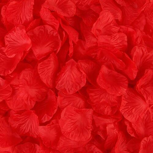 100//500//2000pcs Silk Rose Flower Petals Engagement Wedding Decoration Confetti