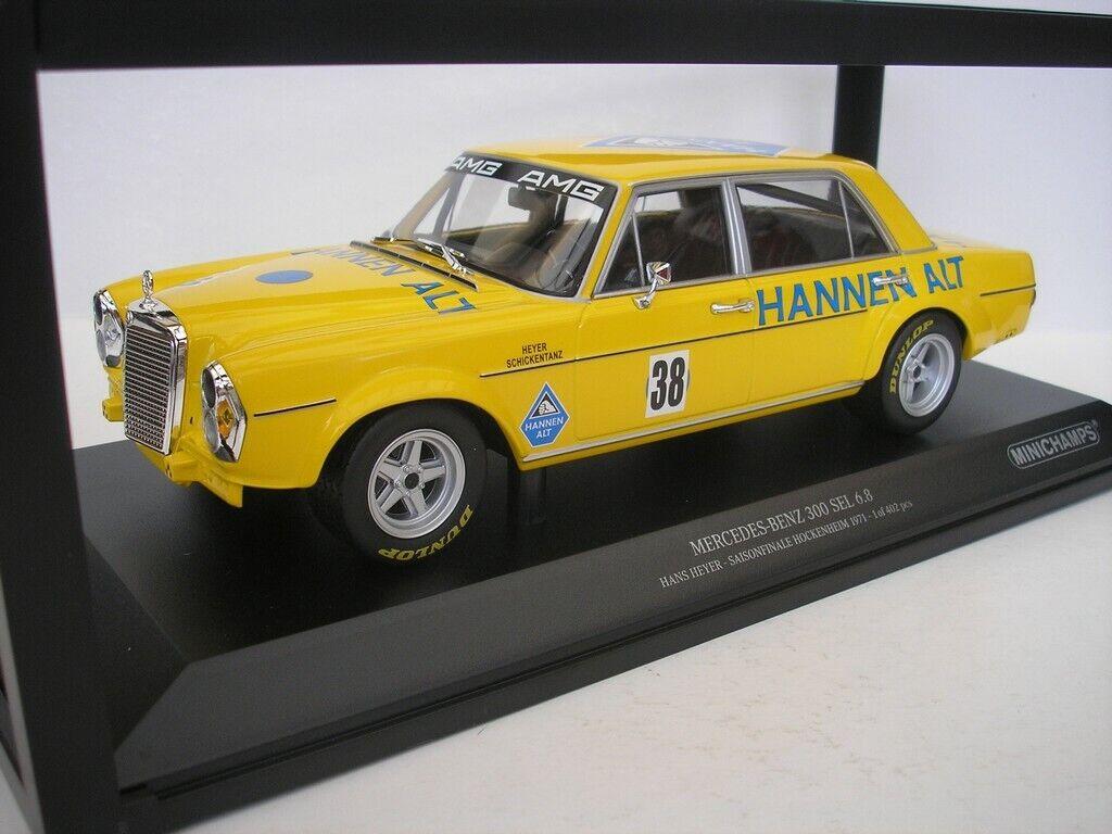 venta con descuento Mercedes Benz 300 sel 6.8  38 H. Heyer Heyer Heyer hockenheim 1971 1 18 Minichamps nuevo  seguro de calidad