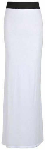 LONG PLAIN MAXI DRESS SKIRTS JERSEY STRETCH SKIRTS 8-14