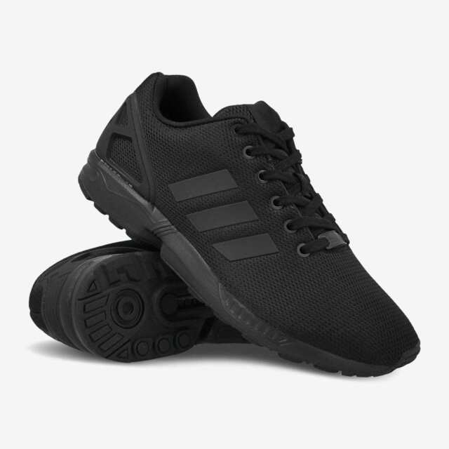sale retailer 6ebcc 3d179 ADIDAS ZX FLUX S32279 MEN'S BLACK ORIGINAL WALKING OUTDOOR SHOES SNEAKERS  NEW!