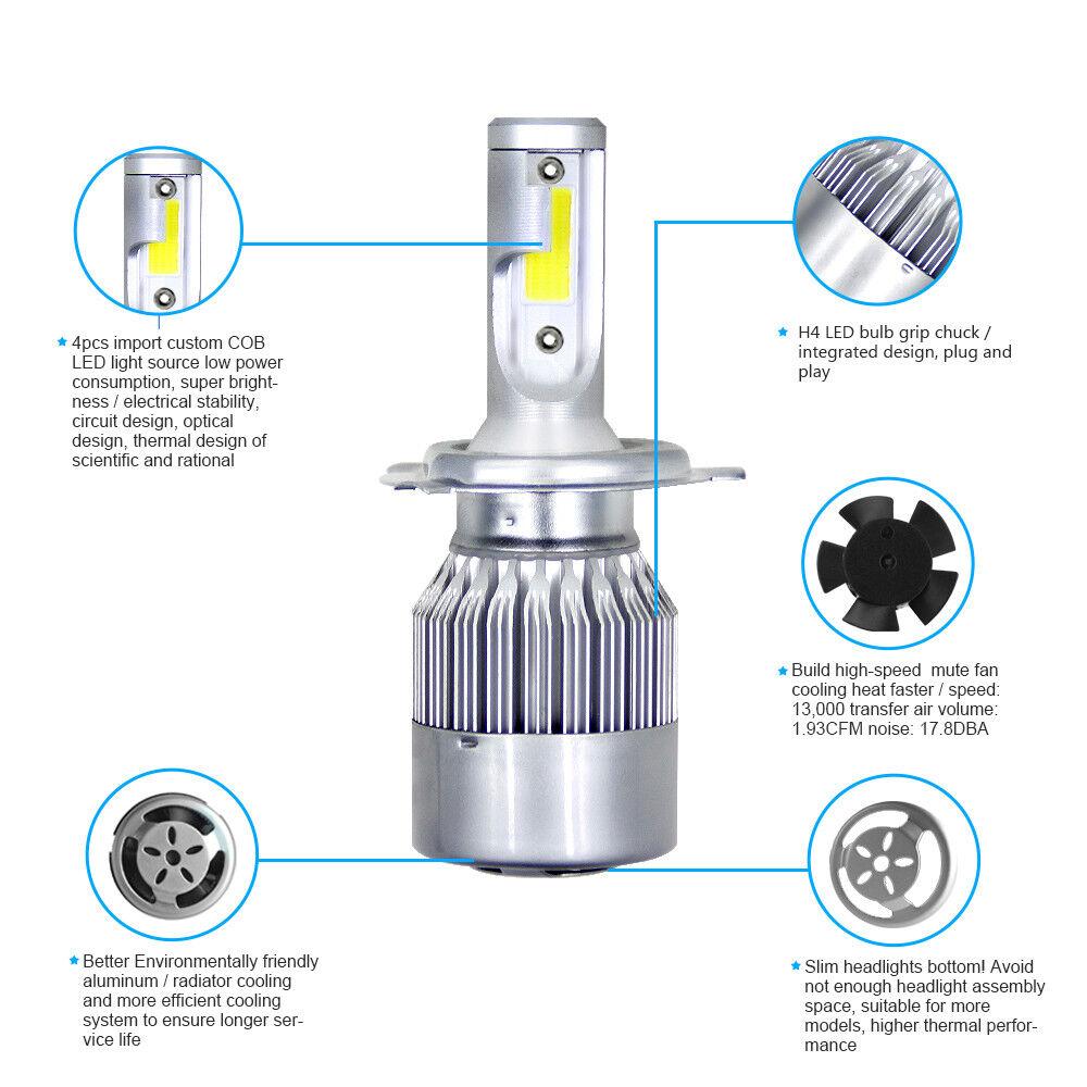 2X ICE Blue COB LED Headlight Hi//Lo Beams Conversion Kit For Toyota Tundra 8000K
