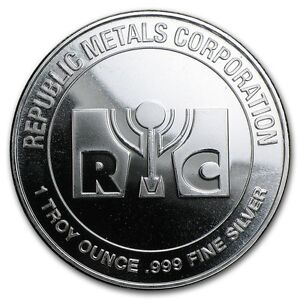 Medaille-Argent-999-1000-1-once-Republic-Metals-Corporation-1-Oz-silver-RMC