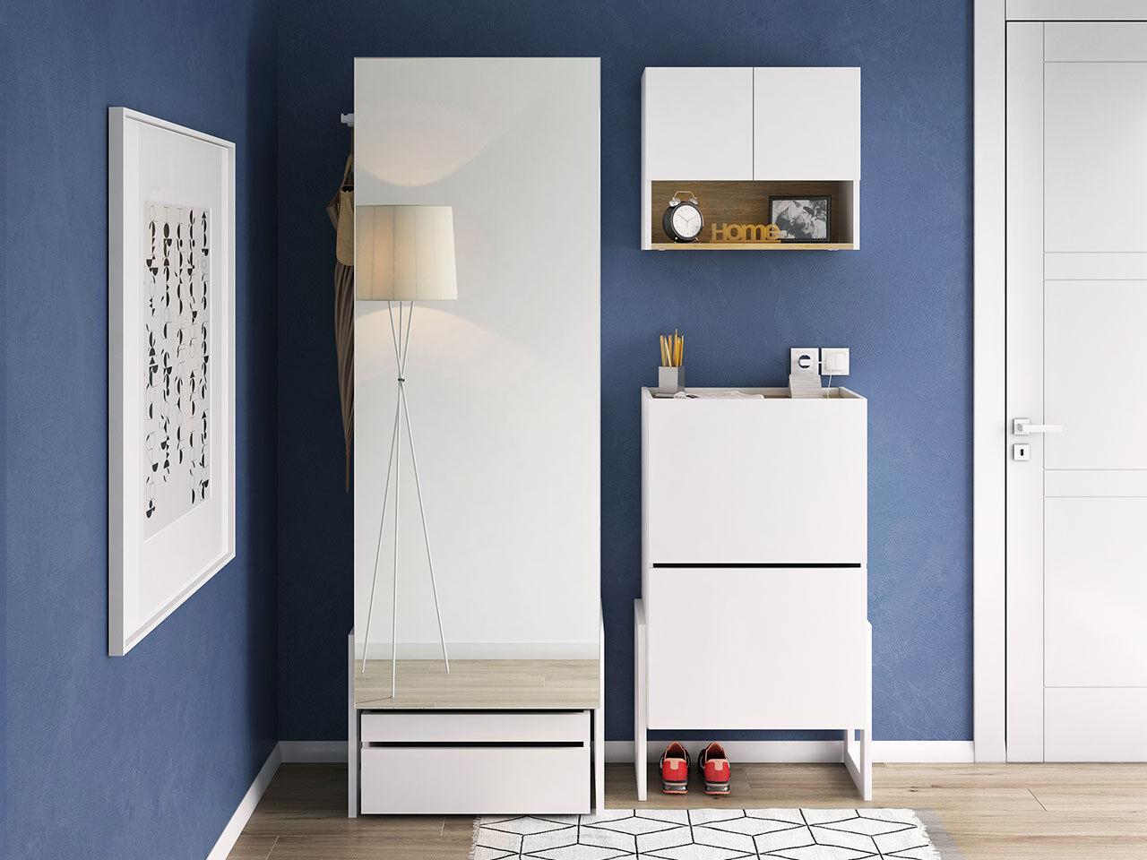 Garderoben-Set Claro Flur Möbel Kompaktgarderobe Schuhkipper Kleiderschrank Kleiderschrank Kleiderschrank 981298