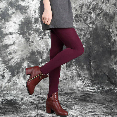 Women Warm Winter Thick Footless Skinny Slim Leggings Stretch Pants FE