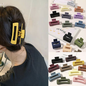 AU-Women-Large-Geometric-Hair-Clip-Acrylic-Hair-Claws-Hairpins-Barrette-Headwear