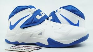 b06d4cd600c1 NIKE ZOOM LEBRON SOLDIER VII TB USED SIZE 14 WHITE ROYAL BLUE 599263 ...