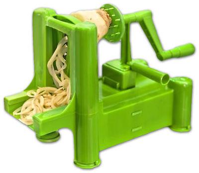 Tri-Blade Plastic Spiral Vegetable Slicer Cutter (Green)