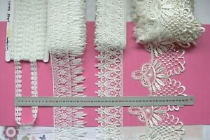 GUIPURE-Edge-Lace-OFF-WHITE-18mm-to-180mm-Wide-3-4-Metres-4-Style-Choice-LL1