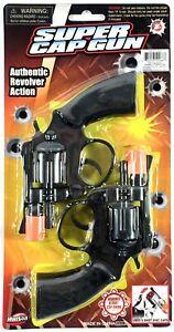 2-Super-Cap-Gun-Pistol-Toy-Handgun-8-shot-Snub-Nosed-Revolver-Military-Police