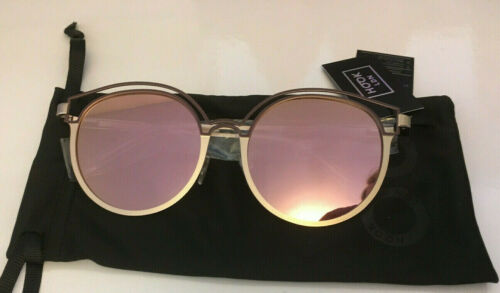 HOOK LDN Sunglasses Gold Frame with Pink Lens Womens Drawstring Case