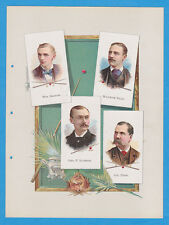 1887 A16 Allen & Ginter World's Champions ser 1 album page Pool w/ DALY, SEXTON