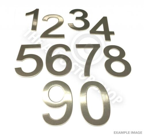 Stainless Steel House Numbers Stick on Self Adhesive 3M Backing 10cm No 86