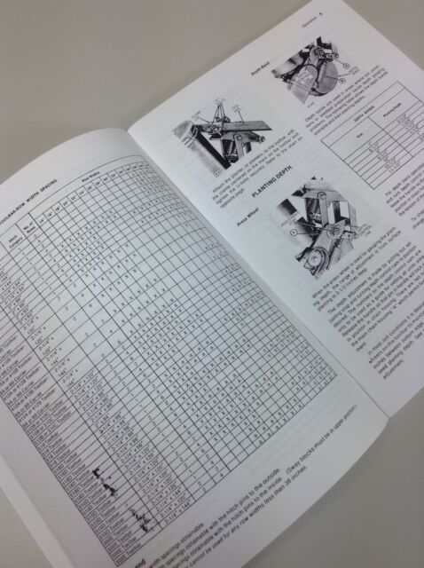 Set John Deere 71 Flexi Planter Owners Operators Parts Manual Catalog Corn Seed