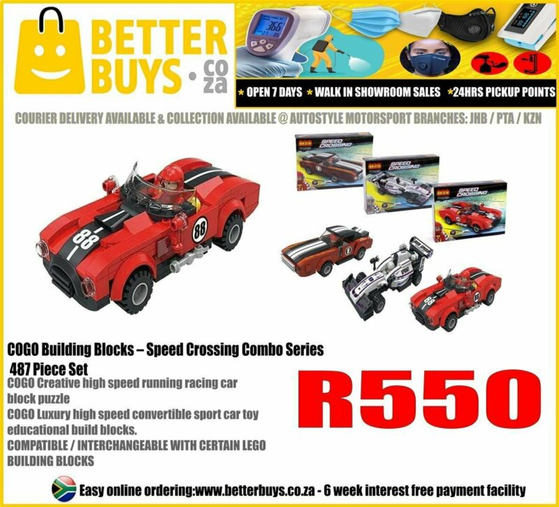 LEGO INSPIRED: COGO Building Blocks – Speed Crossing Combo Series 487 Piece Set R550  COGO Creative