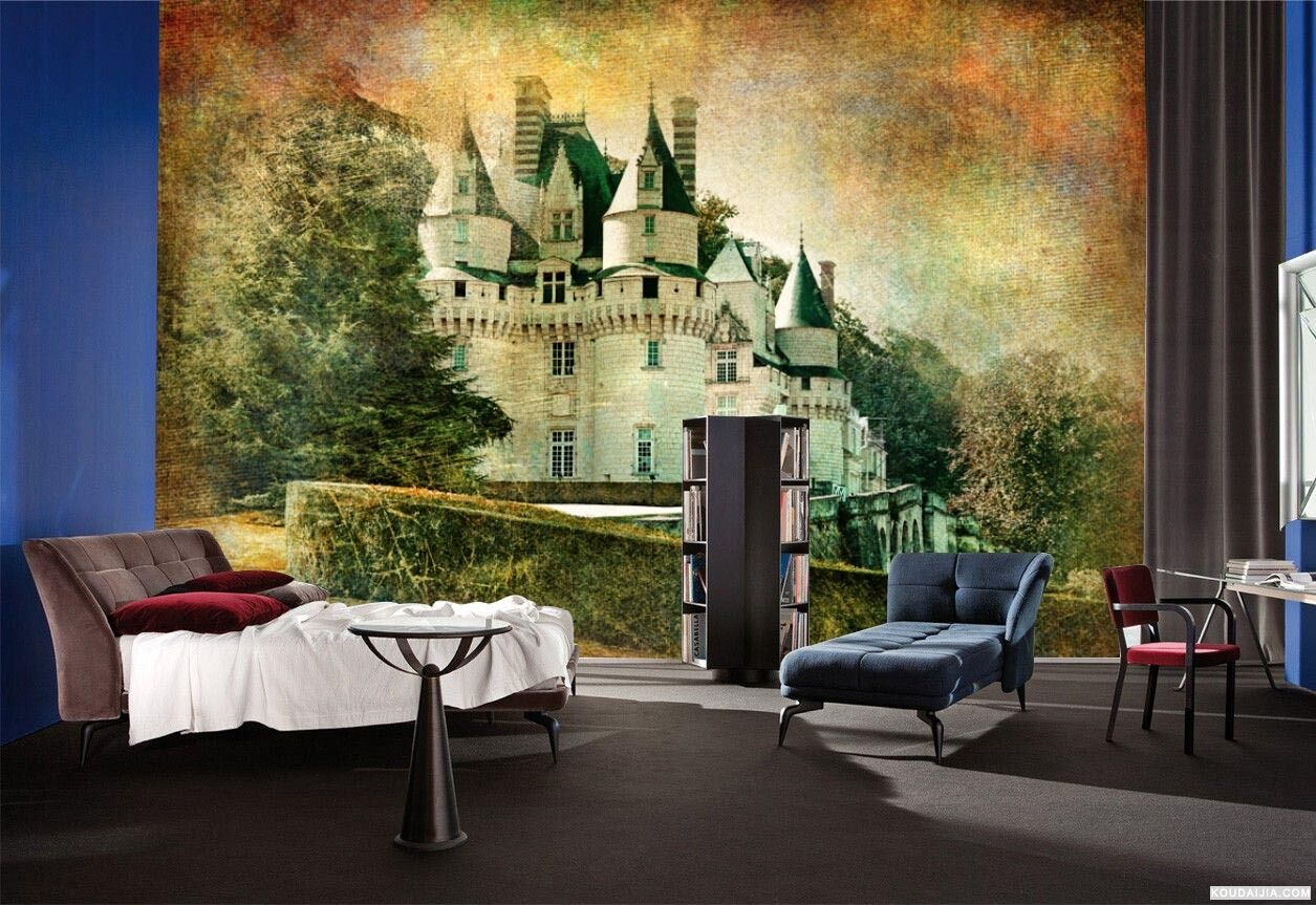 3D Castle painting 4542 Paper Wall Print Decal Wall Wall Murals AJ WALLPAPER GB